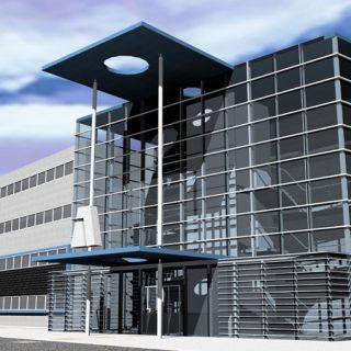 Budynek biurowy z hala dla firmy ARKOP